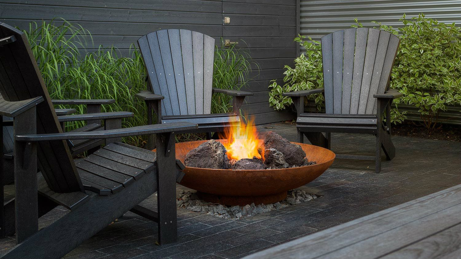 the difference between above ground and in ground fire pits. Black Bedroom Furniture Sets. Home Design Ideas