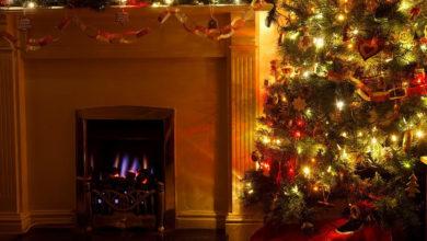 Photo of Avoid Burning Christmas Tree Placed near Fireplace
